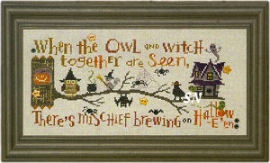 The Halloween Branch -- Hooty Hoo Owl and Border from Bent Creek - click for more