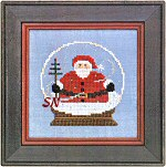 Santa Globe Zipper By Bent Creek