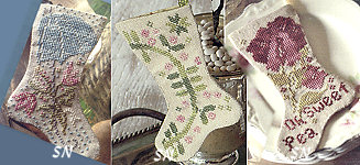 April Showers Stockings from Blackbird Designs - click to see more