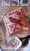Rewards of Merit Pincushions Bird in Hand from Blackbird Designs - click for more