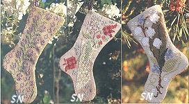 May Flowers Stockings from Blackbird Designs - click to see more