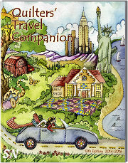 13th Edition 2014-2016 Quilter's Travel Companion Book - click to see more