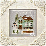 Frosty Forest #3 Snowman Cottage from Country Cottage Needleworks -- click to see more