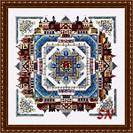 The Medieval Town Mandala from Chatelaine Designs -- click to see more