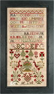 Chessie & Me Janet Reid 1835 Sampler -- click to see more