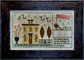 Chessie & Me Tallman House 1864 Sampler -- click to see more