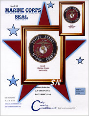 Marine Corps Seal from Cody Country Crossstitch - click to see more