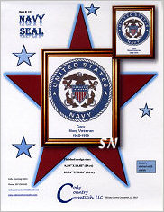 Navy Seal from Cody Country Crossstitch - click to see more