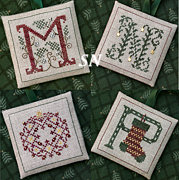 Alphabet Ornaments M N O and P from The Drawn Thread -- click to see more