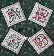 Alphabet Ornaments One: A B C & D from The Drawn Thread -- click to see more