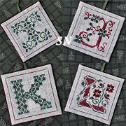 I J K L Alphabet Ornaments from The Drawn Thread -- click to see more