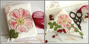 Wild Rose Needlebook and Scissor Case Set - click to see more