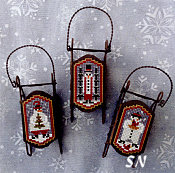 Foxwood Crossings Snow Folk Sleds - click to see more