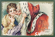 Vintage Needlework Postcards & Tradecards Set 21 -- On Fabric! - click for more