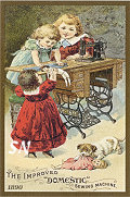 Vintage Needlework Postcards & Tradecards Set 4 - On Fabric! - click for more