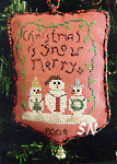 2008 Snow Merry Ornament from Homespun Elegance - click to see more