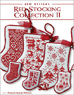 233 Red Stocking Collection II Card from JBW Designs -- click to see more