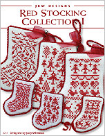 232 Red Stocking Collection I Card from JBW Designs -- click to see more