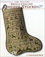 #243 Reindeer Stocking from JBW Designs - click to see more