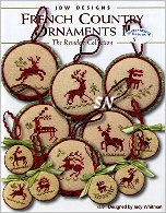 #250 French Country Ornaments Col TWO - Reindeer from JBW Designs - click to see more