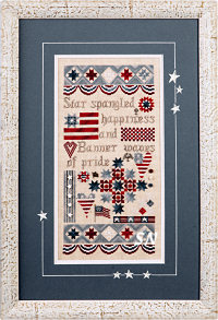 Patriotic Sampler by Jeannette Douglas -- click to see more