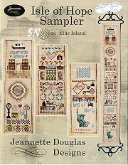 Isle of Hope Sampler -- Ellis Island by Jeannette Douglas -- click to see more