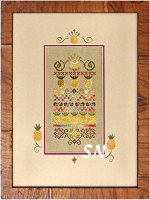 Mini Pineapple Stitches by Jeannette Douglas -- click to see more