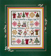 Christmas Sampler by Jeannette Douglas -- click to see more