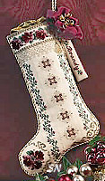 Burgundy Bouquet Stocking from Just Nan - click for a larger view
