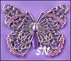 Vintage Winder Silver Filigree Butterfly from Just Nan - click to see more