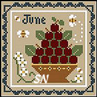 Sampler Months: June from Little House and Crescent Colours - click to see more
