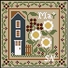 Sampler Months: Mary from Little House and Crescent Colours - click to see more