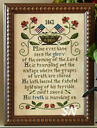 Battle Hymn of the Republic from Little House Needleworks - click for more