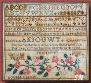 Louisa B Snow Sampler from Little House Needleworks - click to see more