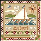 Sampler Months: August from Little House and Crescent Colours - click to see more