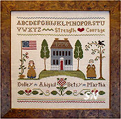 Colonial Women from Little House Needleworks - click for more