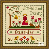 Little Women Virtues Joyful and Caring from Little House Needleworks and Crescent Colours - click to see more