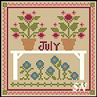 Sampler Months: July from Little House and Crescent Colours - click to see more