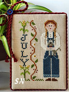 July's Calendar Girl from Little House Needleworks -- click to see more