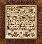 Melicent Turner Sampler from Little House Needleworks - click to see more