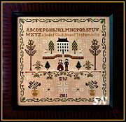 New England Winter Sampler from Little House Needleworks - click to see more