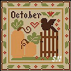 Sampler Months: October from Little House and Crescent Colours - click to see more
