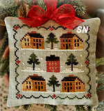 2012 Ornament #12 Saltbox Village Ornament from Little House Needleworks - click to see more