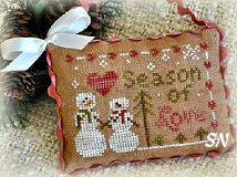 2012 Ornament #11 Season of Love from Little House Needleworks - click to see more