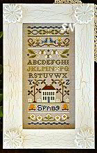 Spring Band Sampler from Little House Needleworks - click to see more