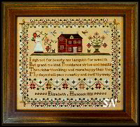 Elizabeth Hancock Sampler from Little House Needleworks - click to see more