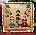 Ornaments of the Month  #1 Fa La La from Little House Needleworks - click for more