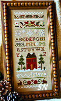Winter Band Sampler from Little House Needleworks - click to see more