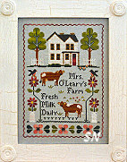 Mrs O'Leary's Dairy Farm from Little House Needleworks - click for more