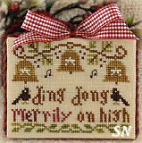 2012 Orn #5 Ding Dong Merrily on High from Little House Needleworks - click to see more